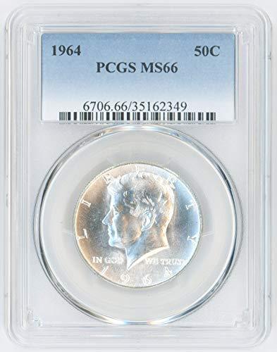 1964 Silver Kennedy Half Dollar 50C MS66 PCGS