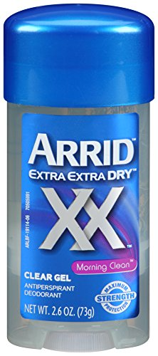 Arrid Extra Dry Anti-Perspirant & Deodorant, Clear Gel, Morning Clean, 2.6 oz (73 g) (Pack of 6) ()
