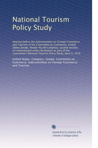 a study of tourism policy in The study evaluates the tourism policy in terms of how far it achieved its promises the findings of the research support the research hypothesis, which postulates that short-term political expediency constrained the implementation of national and.