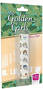 The Golden Girls Dice Set | Collectible d6 Dice Featuring Characters & References - The Golden Girls Logo,