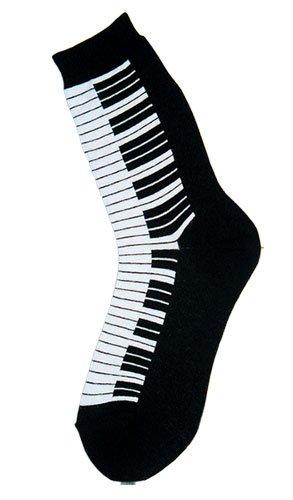 Foot Traffic Women's Piano Keyboard Trouser Socks One Size