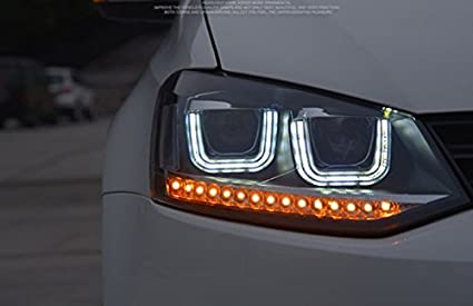 Amazon Com Gowe Car Styling 2009 2015 For Vw Polo Headlights New