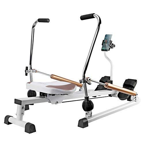 fitbill Rowing Machine Rower with Workout App, Hydraulic Resistance and Free Motion Arms, Model f.Row