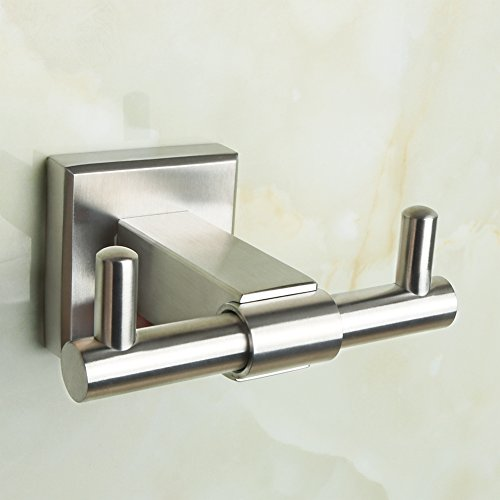 Villa Double Rail (Alise G3920 SUS 304 Stainless Steel Double Coat and Robe Hook Bathroom Kitchen Bedroom Toliet Wall Mount,Brushed Finish)