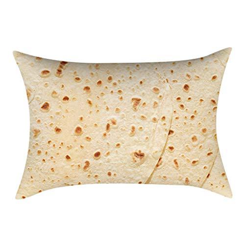 OrchidAmor Comfortable Food Creation Mexican Burritos Pillowcase Sofa Cushion (30cm x 50cm) ()