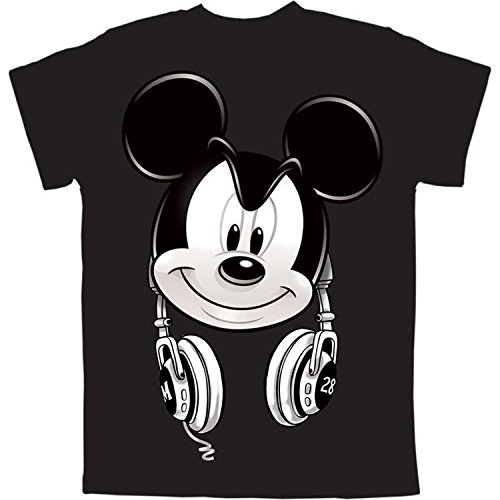 Mickey Mouse Headphones Little Boys Graphic T Shirt (S - Clothes Kids For Disney