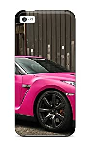 Protective Tpu Case With Fashion Design For Iphone 5c (nissan Gtr In Matte Pink)