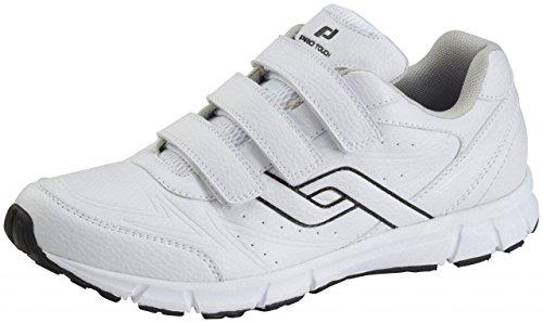Pro chaussures tactile de marche avec Velcro Trainers City - 42, blanc