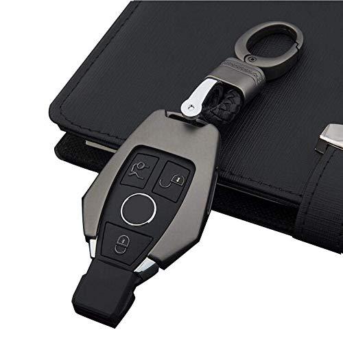 for Mercedes Benz Key Fob Cover Blue Premium Soft TPU Full Cover Protection for Mercedes Benz Smart Remote Key Fob Holder Key Fob Case for Mercedes Benz C E M S CLA CLS CLK GLC GLK G Class