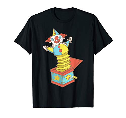 Jack In A Box Funny Colorful Clown Toy T-Shirt