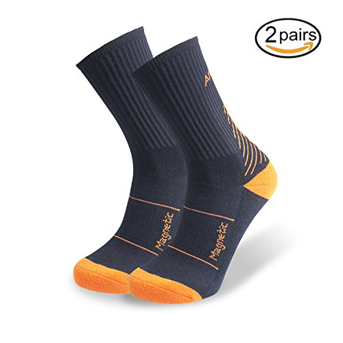 sion Crew Socks for Men&Women,Best for Basketball,Rugby,Baseball,Soccer,Golf,Tennis,Cycling,Running,Athletic Sports–Boost Performance,Blood Circulation&Sports Recovery (Cycling Golf)