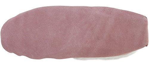 SNUGRUGS - Mocassini slipper in camoscio da donna, con rivestimento in lana e suola morbida, colore: Rosa Misura: 35,5 a 43,5