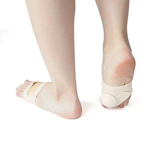 Danse Paire pied Danseuse Élastique Orteil Ballet Sourcingmap Semelle Du Ventre 1 Avant Tampons wa4U11