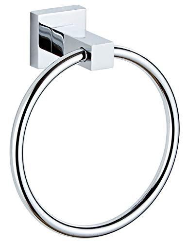 (Ryohin Stainless Steel Towel Ring, Wall Mounted Hand Towel Holder for Bathroom, Washroom, Kitchen, Polished Chrome )
