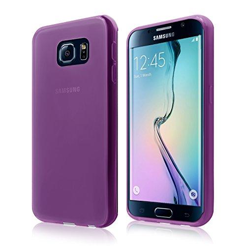 Cbus Wireless Matte Finish TPU Flexible Slim Gel Silicone Case / Skin / Cover for Samsung Galaxy S6 Edge - Semi Transparent Purple