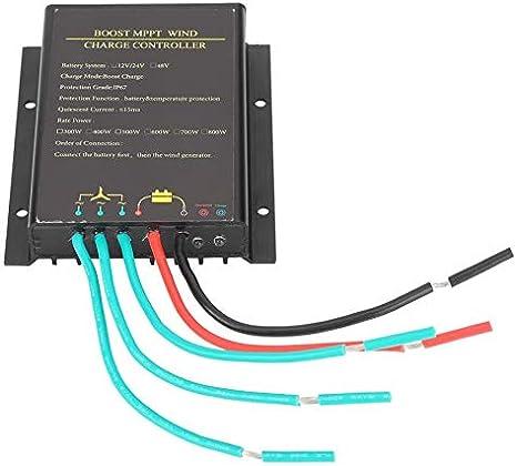 SISHUINIANHUA Controlador de generador de turbina eólica de 48V 800W Regulador de Controlador de Carga de batería MPPT Impermeable