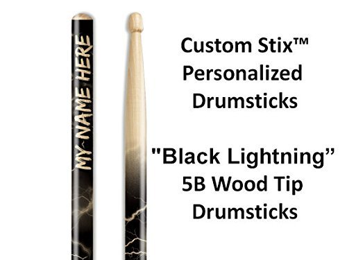 Personalized Drumsticks (1 Pair with Each Order) Lightning custom drumsticks ()