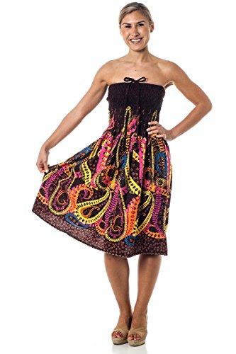 One-size-fits-most Tube Dress/Coverup - Crazy Paisley (Ladies Elastic Tube Dress)