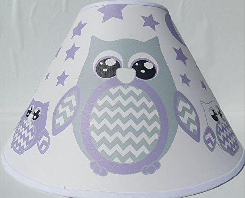 Purple Owl Lamp Shade/Children's Purple Owl Woodland Forest Animal Nursery Room Decor