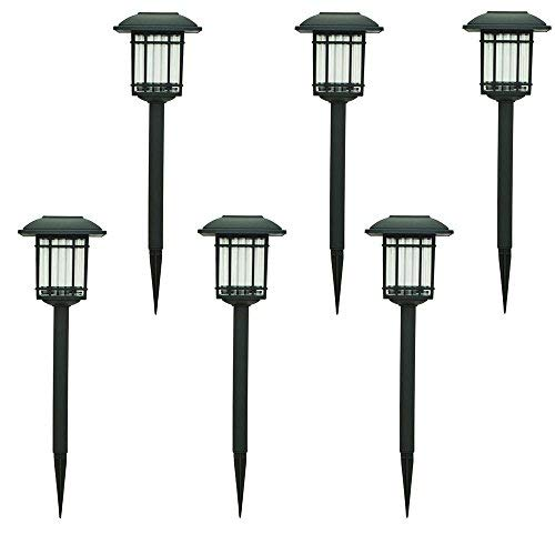 Hampton Bay Solar Black Outdoor Integrated LED 3000K 6-Lumens Landscape Pathway Light (6-Pack) (Solar Bay Hampton)