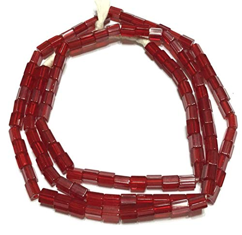 Fine Vintage Czech Crystal Russian Cut Red Faceted Glass African Trade Beads
