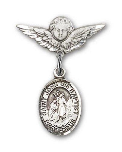 Icecarats Créatrice De Bijoux En Argent Sterling St. John La Broche Badge Baptiste Charme D'Ange 7/8 X 3/4