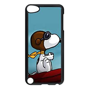 iPod Touch 5 Case Black Charlie Brown and Snoopy D4621673