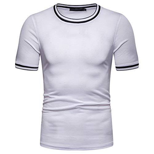 - Cotton t Shirts for Men Crew Neck Short Sleeve Solid Casual T Shirt Blouse Tops Mens Fashion Summer 2019 White