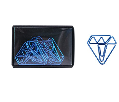 Eilova Creative Diamond Shape Paperclips Metal Book Line Marker File Clip Clamp Bookmark for Office School Notebook with Small Box,8/Pack (Book Holder Line)