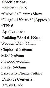 F-MINGNIAN-SPRING 3pcs Plastique Lames sans Fil scie Alternative for Aeg Atlas-Copco Black /& Decker for Flex Makita Metabo Milwaukee 150mm