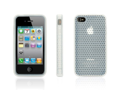 Griffin White Silicone FlexGrip Punch Case for iPhone 4/4s