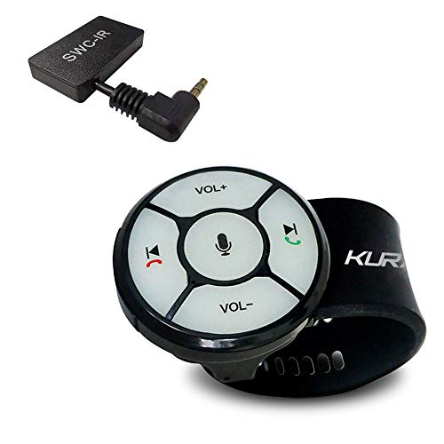 Wireless Steering Wheel Audio Controller, KURATU Watchband Style Car Steering Wheel Controller with Backlight Buttons, Wireless Remote Control for KURATU Android Car Stereo/GPS Navigator