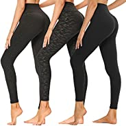 High Waisted Leggings for Women - Soft Athletic Tummy Control Pants for Running Cycling Yoga Workout - Reg &am