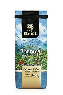 CAFÉ BRITT - GOURMET COFFEE, Ground Coffee, Costa Rican Coffee, 12 Oz. Bag by Café Britt