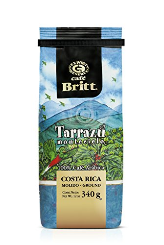Cafe Britt Costa Rica Tarrazu Ground Coffee, Arabica, 12 oz, Kosher