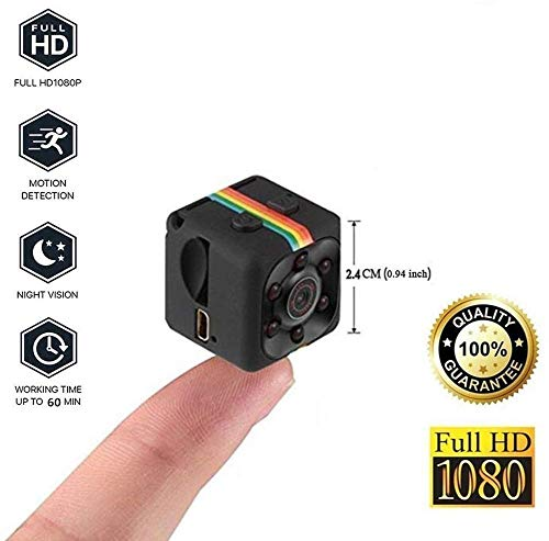 M S TECH Spy Camera Mini, Small Audio and Video 1080p Recording Device, Night Vision, Hidden Cam for Home Office Room…