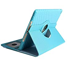 Jennyfly Case iPad Air, Premium TPU Leather 360 Degree Rotating Stand Protective Case Adjustable Angels Stand Cover iPad Air - Light Blue