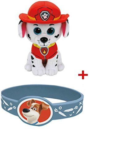TY Beanie Babies -Paw Patrol- MARSHALL (FREE GIFT WITH PURCHASE BRACELET) By ADD&SHIP
