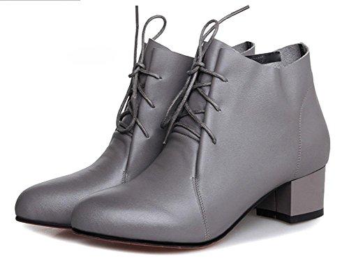 Frau im Frühjahr und Herbst Stiefel in Damenstiefel mit dicken Spitzen Martin Stiefel einzigen Stiefel mit Frau , US7.5 / EU38 / UK5.5 / CN38