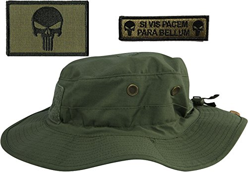 31a3ae55718cc Gadsden and Culpeper Operator Boonie Hat Bundle   Patches - Punisher. by  gadsden and culpeper. Color  Black