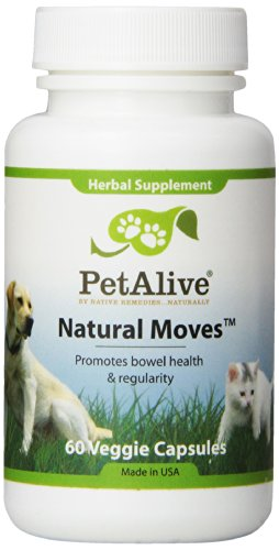 PetAlive Natural Moves for Pet Regular Healthy Bowels (60 Caps)