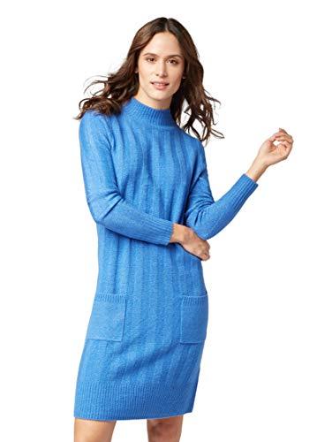 Azul sapphire Tom Vestido Stand Mit Kragen Weiches Tailor 11356 Mujer Hohem Strickkleid Blue Up Para 7Pwr7qBn