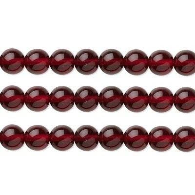 Czech Round Pressed Glass Beads. Preciosa Druk Garnet 4mm 16 Inch Strand ()