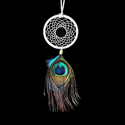 Handmade Dream Catcher Net Feather Wall Car Hanging Decoration Ornament Gift By HittecH by HittecH (Image #1)