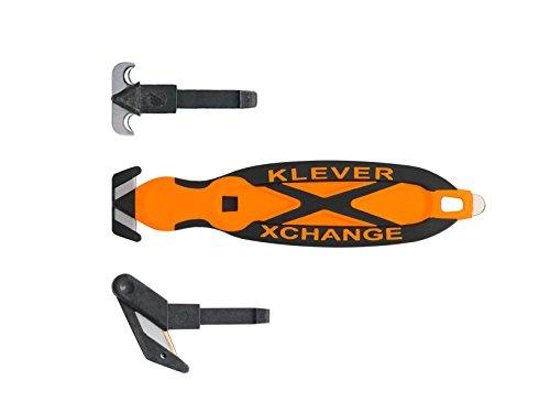 Box Cutter, Klever X Change Kombo Pack - All 3 Interchangable Heads (Orange)