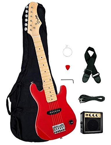 Directly Cheap EP3-RD 1/2 Size Kids Electric Guitar & Amplifier Pack & Gig Bag, Strap, Cable, DirectlyCheap Pick, 30″, Red