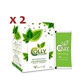 2 Boxes Colly Chlorophyll Plus Fiber Green Tea (5 g x 15 Sachets)