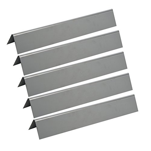 GASSAF JX636 (5-pack) Flavorizer Bar Stainless Steel Heat Plate Repalcement for Weber 46510001, 47513101 Spirit 300 310 320 E310 E320 Series Gas (Stainless Steel Flavor Bar)