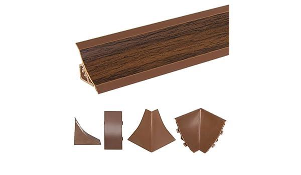 HOLZBRINK Rinconera Interior para el Copete de Encimera Nuez Oscuro Listón de Acabado PVC Copete para Encimeras de Cocina 23x23 mm: Amazon.es: Bricolaje y ...