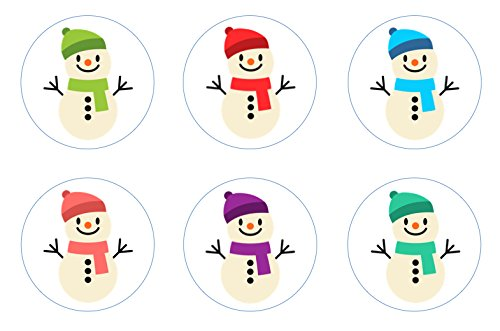 Christmas Snowman Cupcake Toppers Decoration product image